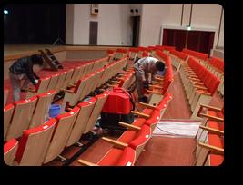 ホール椅子クリーニング
