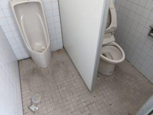 トイレ床タイル クリーニング前