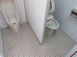 トイレ床タイル クリーニング後