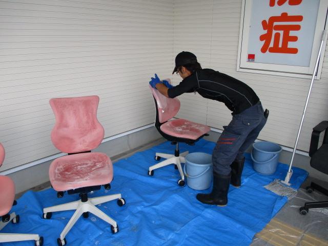 奈良市 医院椅子クリーニング