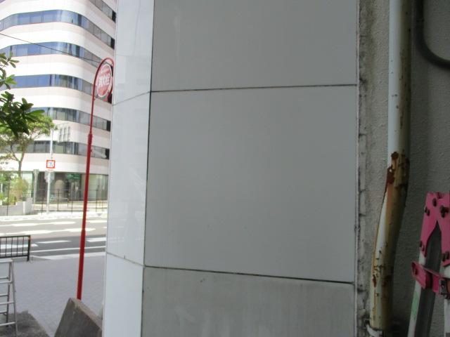 外壁落書き洗浄後